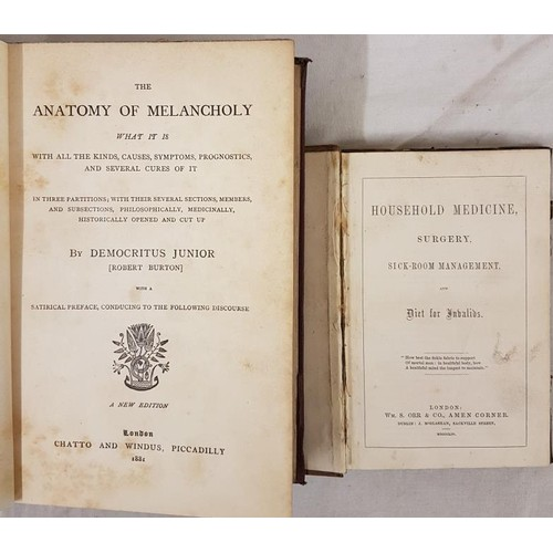 36 - Medical:<em> Household Medicine, surgery etc</em>… L. 1854, small 8vo, half leather, scarce. ...