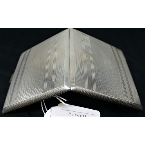 24 - Solid Silver cigarette case Birmingham 1946 by John Rose. Weighs 136 gramsInlovelyusuableconditi...