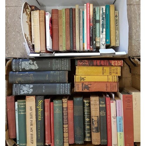 1 - Two boxes of misc; includes <em>Wodehouse, The Bodley Head Publications, Quiller Couch</em> and poet...