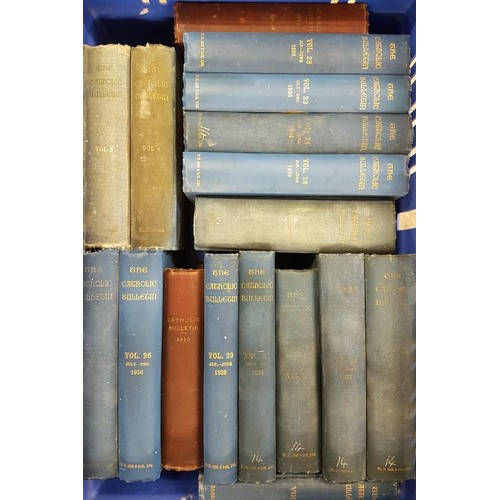 2 - <em>Irish Catholic Bulletin.</em> Volumes 1, 2, 3, 4, 5 etc. 1911-1949. Incomplete run. bound in clo...