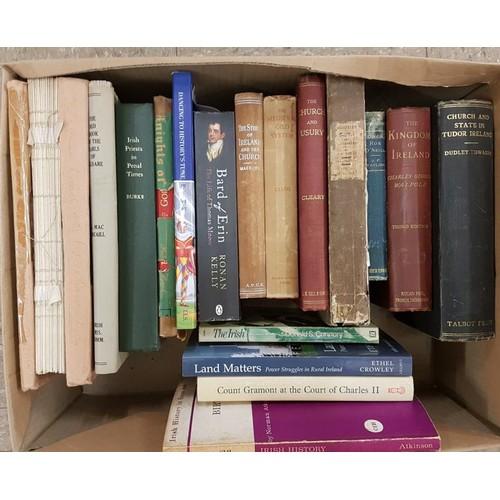 11 - Small box Irish mainly non fiction; includes <em>Red Book of Kildare</em> and 3 other IMC; <em>Pries...
