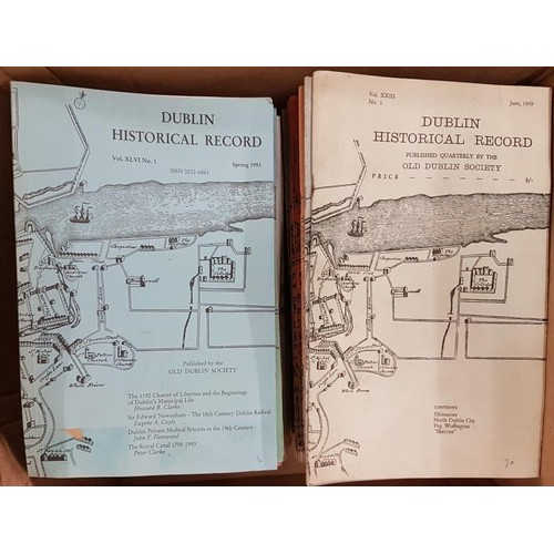 12 - Journal –<em> Dublin Historical Record</em> – Large collection of this journal with volumes from the...