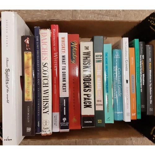14 - Drink: small box on <em>Whiskey and Whisky</em> (10 vols), <em>Gin, Beer and Cocktails.</em> 16 vols...