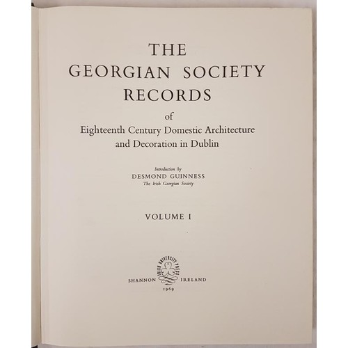 22 - <em>The Georgian Society Records</em> Vol 1, IGS facsimile copy of 1909 ed; large 4to, almost mint c...