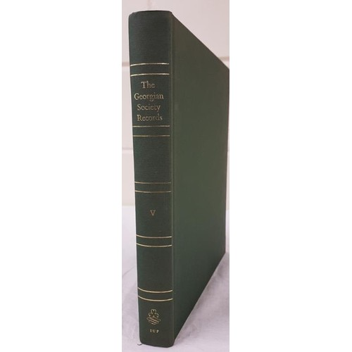 23 - <em>The Georgian Society Records Vol 5</em>, IGS facsimile copy of 1909 ed; large 4to, almost mint c...