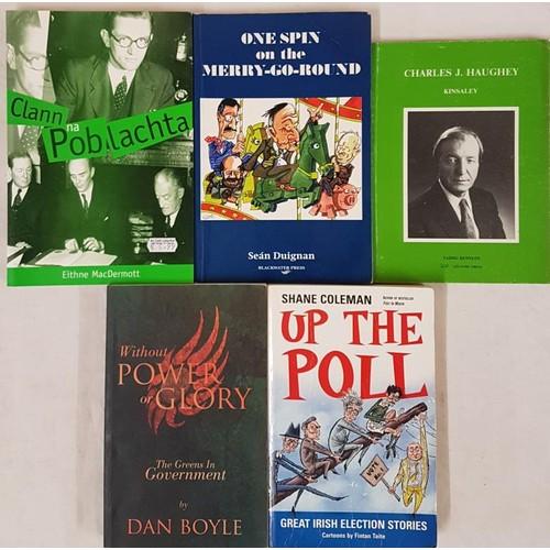 28 - <em>Clann na Poblachta</em>by Eithne MacDermott, Softback.<em> Up the Poll</em>by Shane ...
