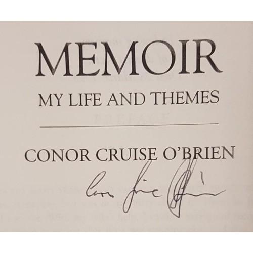 31 - <em>Conor Cruise O Brien</em>, 2 vol biography, by Donal Harman Akenson. 1994. <em>Memoir, My Life a...