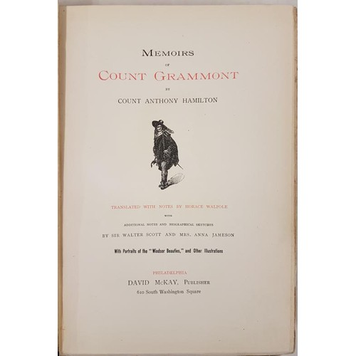 34 - Anthony Hamilton, <em>Memoirs of Count Grammont</em>, trans Walpole, edited Scott and Mrs Jameson; i...