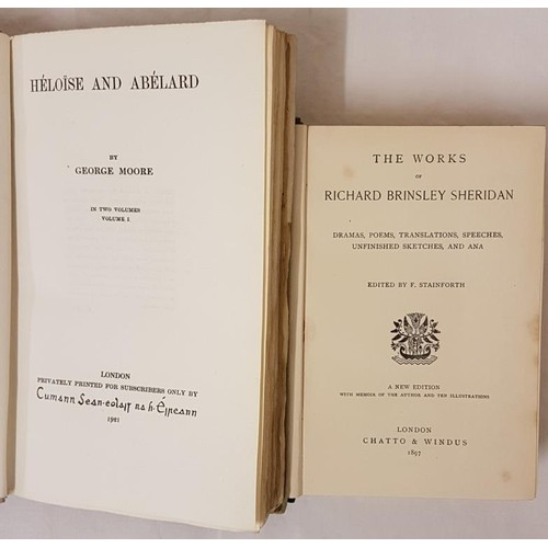25 - <em>The Works of Richard Brinsley Sheridan.</em> Edited by F. Stainforth. 1897. Tinted lithographs. ...