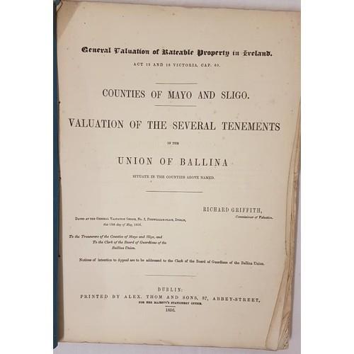 27 - Richard Griffith. <em>Griffith's Valuation of Counties Mayo & Sligo – Union of Balli...