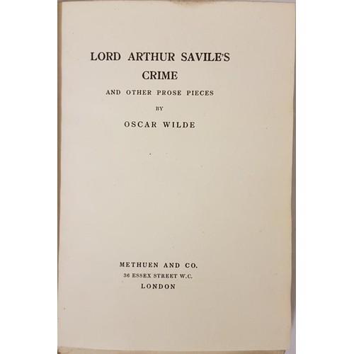 31 - Oscar Wilde. <em>Lord Arthur Savile's Crime and Other Prose pieces</em>. 1903. Limited edition...