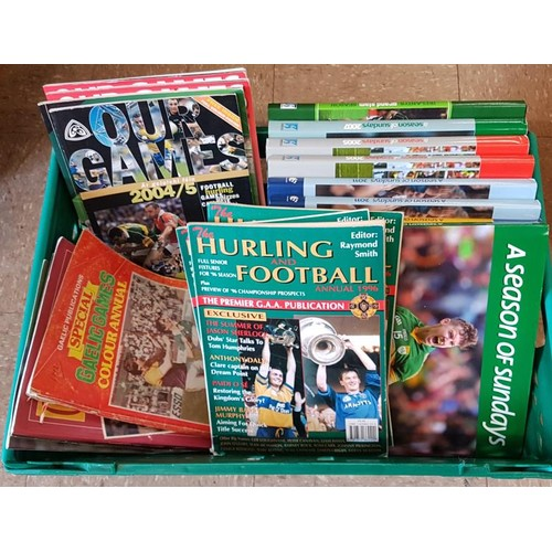 2 - G.A.A. Interest - Box of Publications - <em>A Season Of Sunday's x 8; Our Games x 4; Hurling & F...