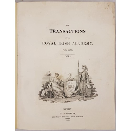 39 - <em>Royal Irish Academy. 1830-1831</em>. Bound volume with numerous articles including<em> Systems o...