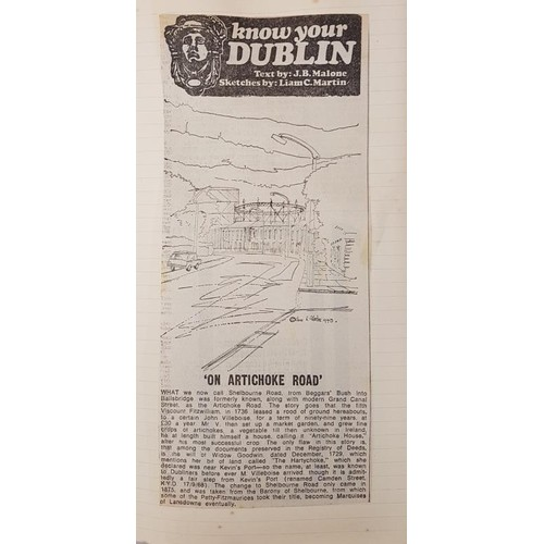 1 - Dublin Scrapbooks. <em>Know Your Dublin</em> Text by J. B. Malone. Sketches by Liam C. Martin. 5 boo...