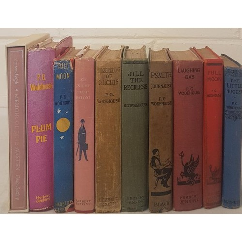 5 - Nine <em>P. G. Woodehouse Books</em> (6 1st Editions) and <em>A Memoir of Jane Austin</em> (Folio)...