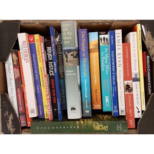 10 - Small box c20 volumes, <em>Irish Literary, Memoirs, Travel</em>. . All vg....