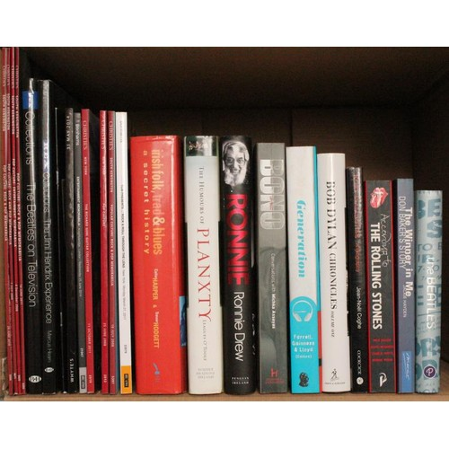 12 - <em>Music Interest</em> – collection of books including The Beatles, The Stones, Bob Dylan, Ir...