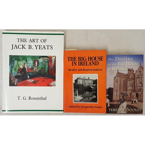 18 - <em>The Art of Jack B Yeats</em> by T. G. Rosenthal. Large format; <em>The Decline of the Big House ...