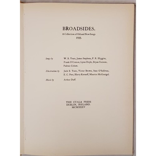 20 - <em>Broadsides A Collection of Old and New Songs 1935, Songs by W B Yeats and others</em>, The Cuala...
