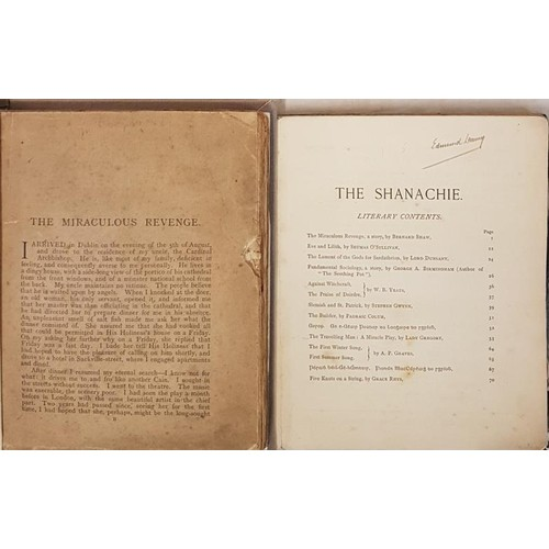 27 - <em>The Shanachie</em>, 1906, blue wrappers. Contributions by WB Yeats, Lord Dunsany, Lady Gregory a...