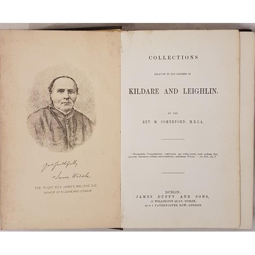 31 - <em>Collections relating to Diocese of Kildare and Leighlin</em> by Comerford. Dublin [1883]. 3 volu...