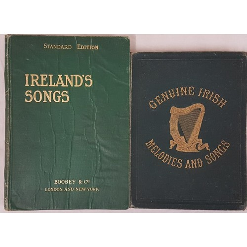 36 - <em>Genuine Irish Melodies and Songs,</em> Glasgow, c1877, 4to with gilt title on cover, iv + 154 pp...