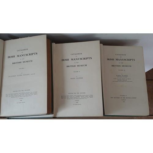 38 - <em>Catalogue of Irish Manuscripts in the British Museum</em>, complete in 3 vols. Vol I – Sta...