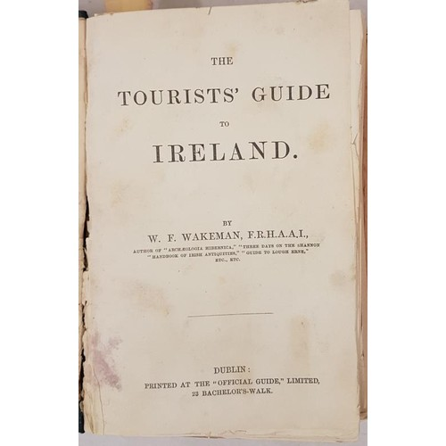 41 - T J Westropp bound copy of 6 Tours or guides in Ireland<em>,</em> rebound by him as one vol Jan 1895...