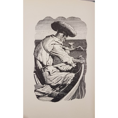45 - <em>The Old Man and the Sea,</em> Ernest Hemingway, 1st illustrated edition, 1953, Reprint Society U...
