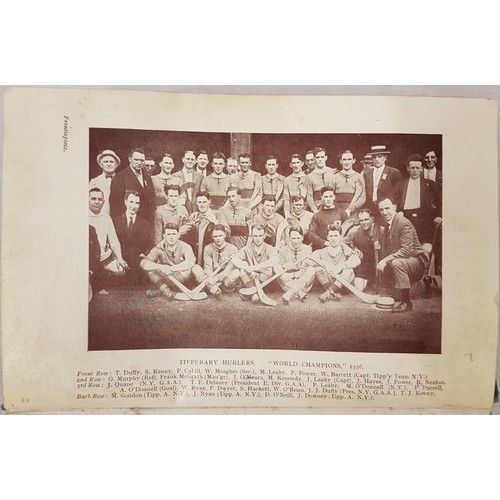 23 - <em>Tour Of The Tipperary Hurling Team In America</em> <em>1926</em> by Thomas J Kenny. London: Geor...