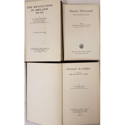 95 - W.A. Phillips The Revolution in Ireland 1906/1923. First edit, Michael Tierney; Daniel O'Connell ...