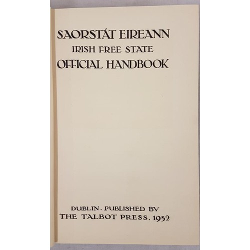 101 - Description: Bulmer Hobson (Ed.) - Saorstat Eireann: Irish Free State Official Handbook 1932. Hardco...