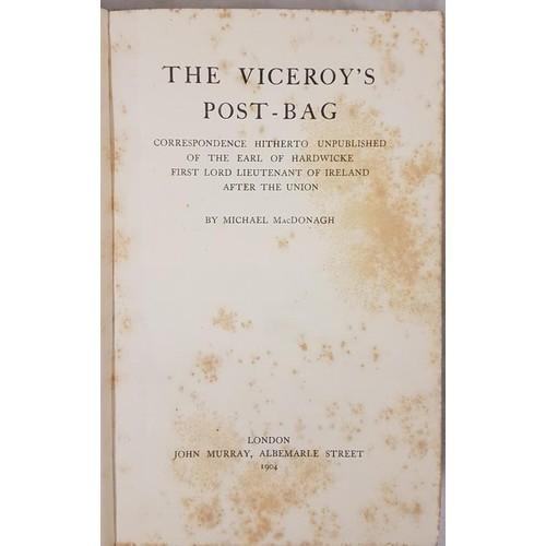 104 - Michael McDonagh The Viceroy's Postbag, 1 volume, London 1904