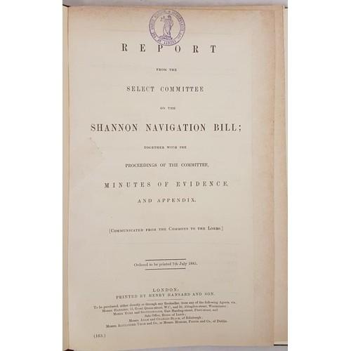 117 - Report on the Shannon Navigation Bill 1855. Quarto. Quarter calf.