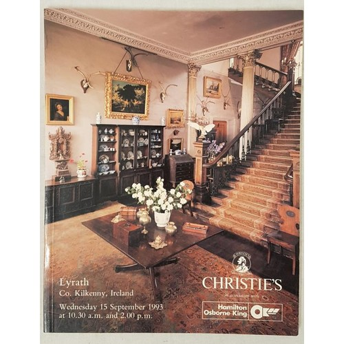 124 - Christies contents catalogue. Lyrath , Co Kilkenny. Sept. 1993.