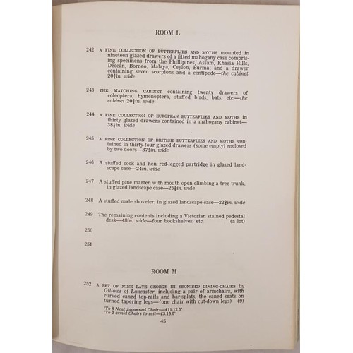 125 - Christies sale of the contents of Clonbrock, Ahascragh, Co. Galway 1/3 November 1976. Illustrated. S...
