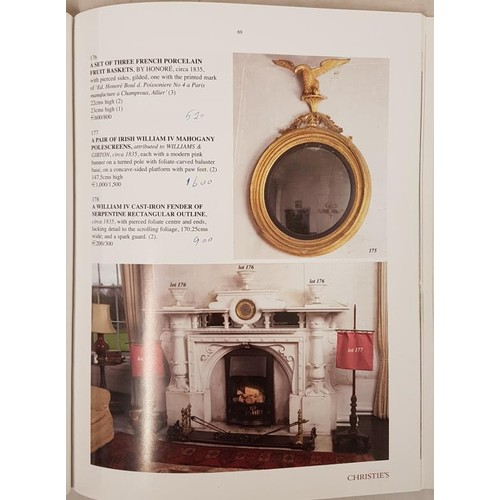 129 - Christies catalogue. Catalogue sale of contents of Lissadell, Co. Sligo on 25th Nov. 2003. Fine with...