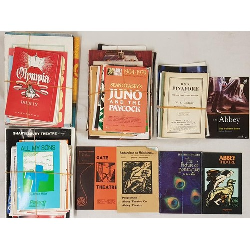 142 - Good Collection of Mostly Irish Theatre Programmes