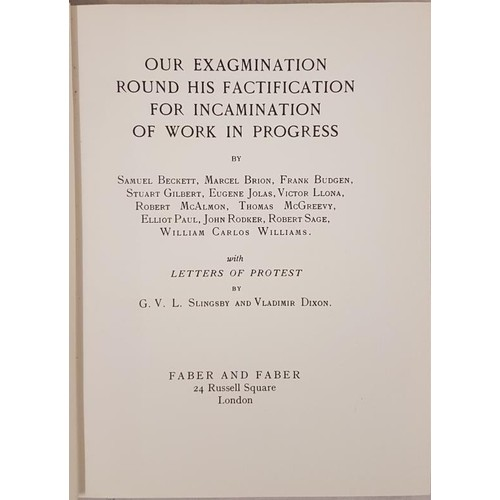 149 - Samuel Beckett and Others (Including Joyce) Our Exagmination Round Hs Factifcation of Work in Progre...