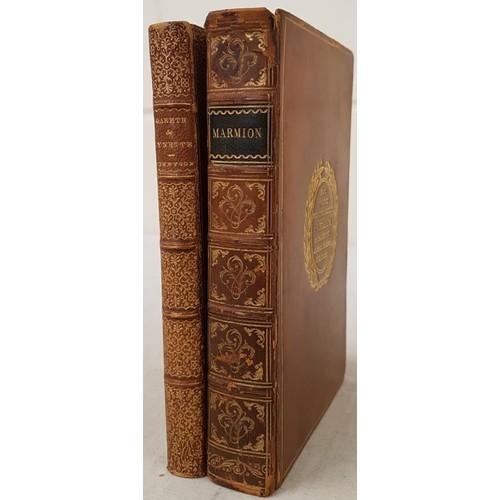 166 - A. Tennyson. Gareth and Lynette. 1872. 2 attractive book plates; and Walter Scott Marmon – A Tale o...