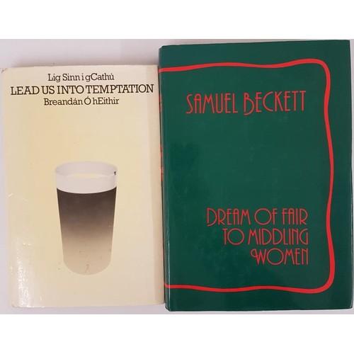 169 - Breandan O hEithir. Lead Us Into Temptation. 1978. 1st English edit and Samuel Beckett, Dream of Fai...