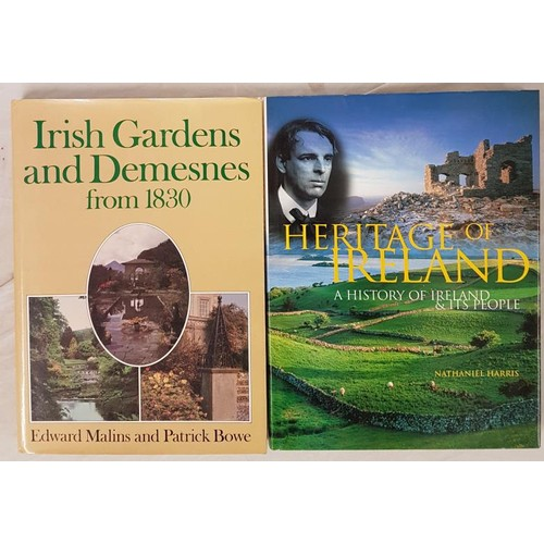 170 - Edward Malins and Patrick Bowe Irish Gardens and Demesnes from 1830. Folio. Illustrated; and M. H...