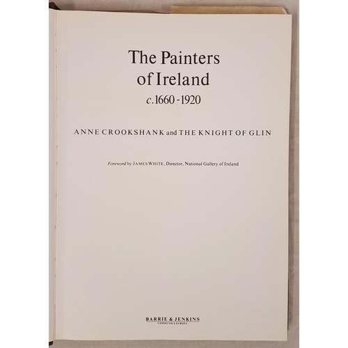 21 - Anne Crookshank & The Knight of Glin. The Painters of Ireland 1978. 1st Scarce in first edition....