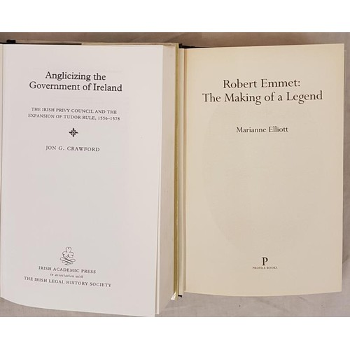 23 - M. Elliott. Robert Emmet. The Making of a Legend. 2003 and J.G. Crawford. Anglicizing the Government...