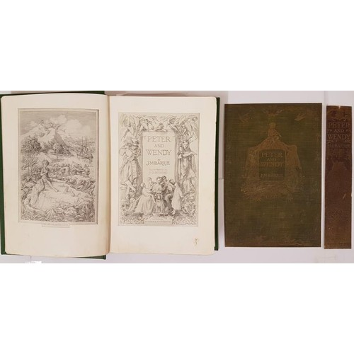 28 - Barrie, J.M. [James Matthew] Peter and Wendy Hodder & Stoughton, London, 1911. 8vo. Re-bound, wi...