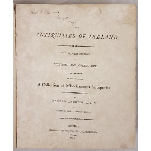 30 - Ledwich, E. Antiquities of Ireland, 1803-4 quarto, 42 engraved plates complete, handsome original ha...