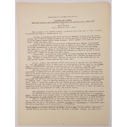 31 - Eldon Griffin, Clippers and Consuls….American consular and commercial relations with East Asi...