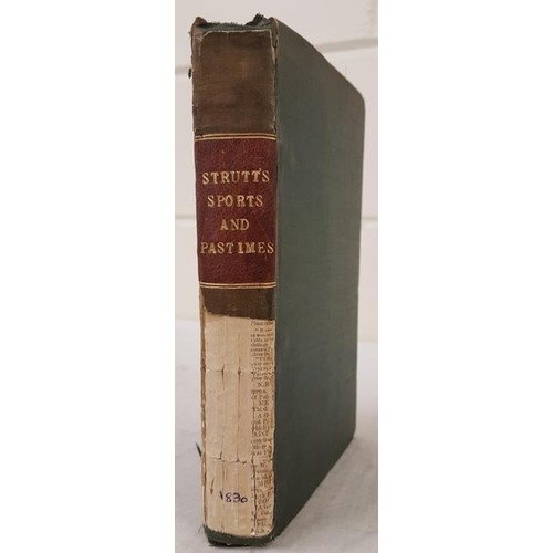 34 - Sports & Pastimes, Historic] Strutt, J. The Sports & Pastimes of the People of England; incl...