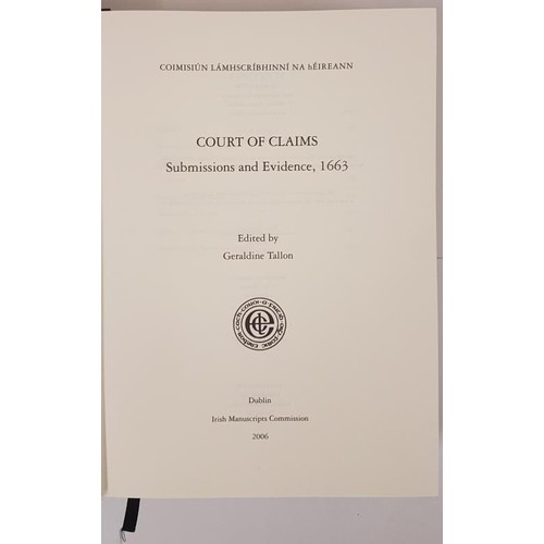 35 - Tallon, Geraldine (edit.). Court Of Claims Submissions and Evidence 1663. IMC 2006, dj