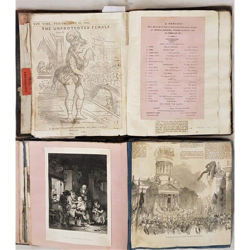 42 - Scrap Books: 2 Quarto scrapbooks, one about the 1840's, probably American, mainly filled with engrav...